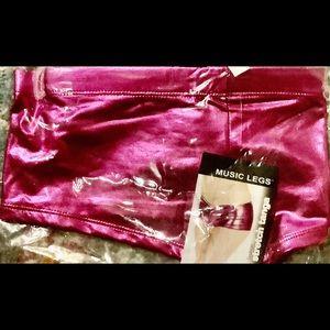 Music Legs Shorts - Fuchsia Metallic Cheeky Boy Shorts OSFM